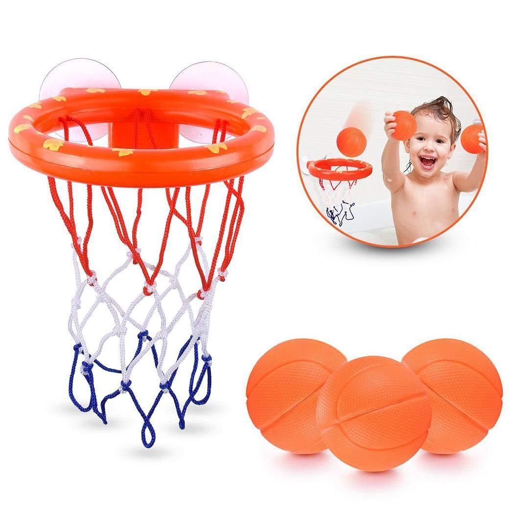 Baby Bath Toy Basketball Hoop with 3 Balls Playset Bedroom Bathroom Toilet Office Desktop