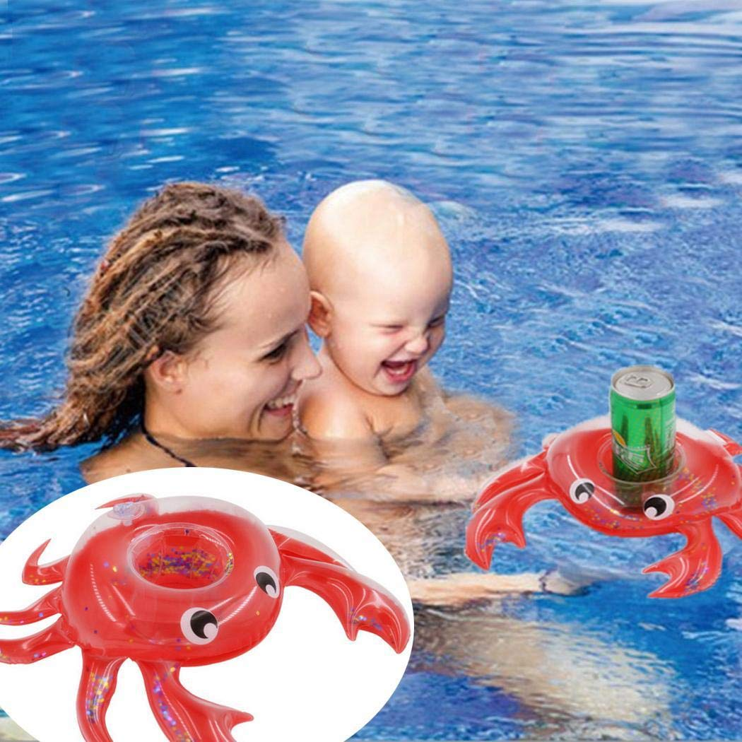 Inflatable Coasters Floating Pool Crab Drink Cup Holders for Kids Bath Toys