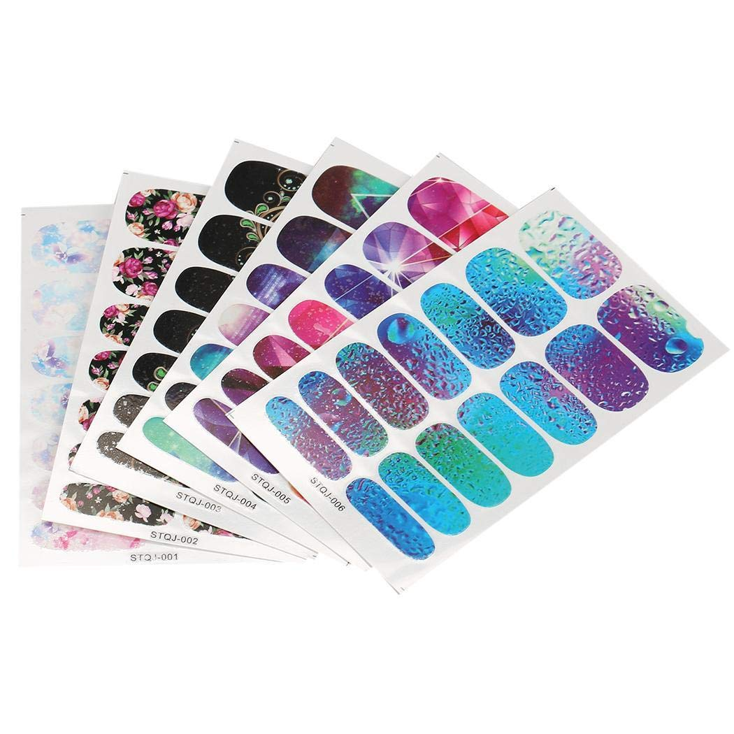Water Transfer Foil Nails Stickers Manicure Nail Art Tool Decors Water Film Paper Decals Set