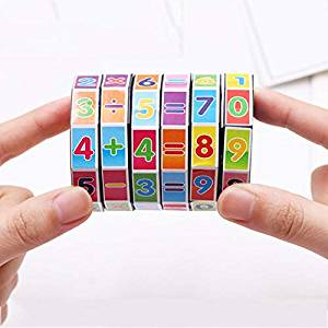 Kids Numbers Puzzle Threading Cube, Children Mathematics Puzzle Games Educational Toys