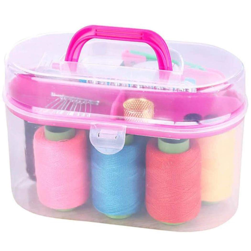 Minlop Durable Practical Portable Sewing Box Kit Household Mini Travel Sewing Kit