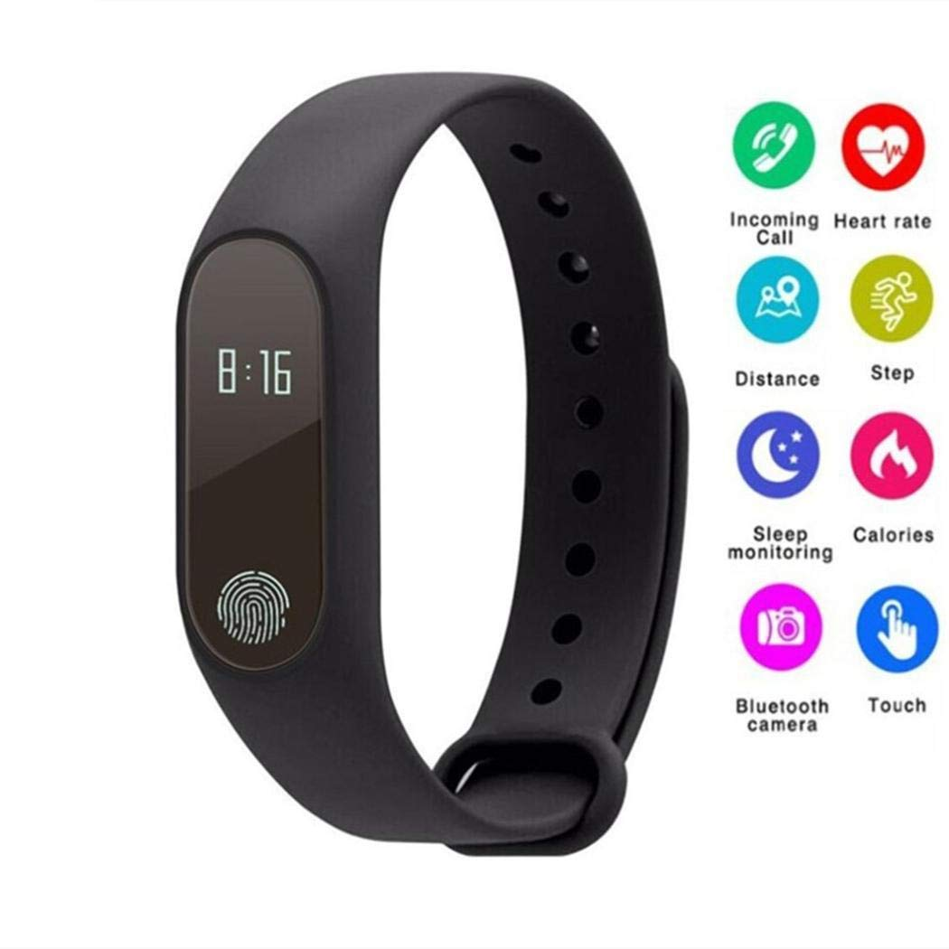 Fitness Tracker Waterproof Smart Band Heart Rate Monitor Wristbands Bracelet
