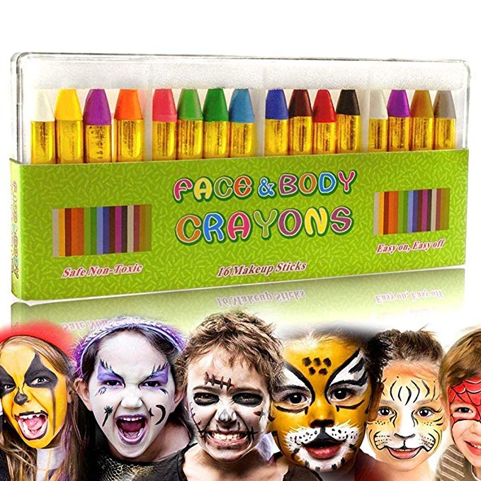 50% off Children's Washable Face Crayons Kit Body Oil