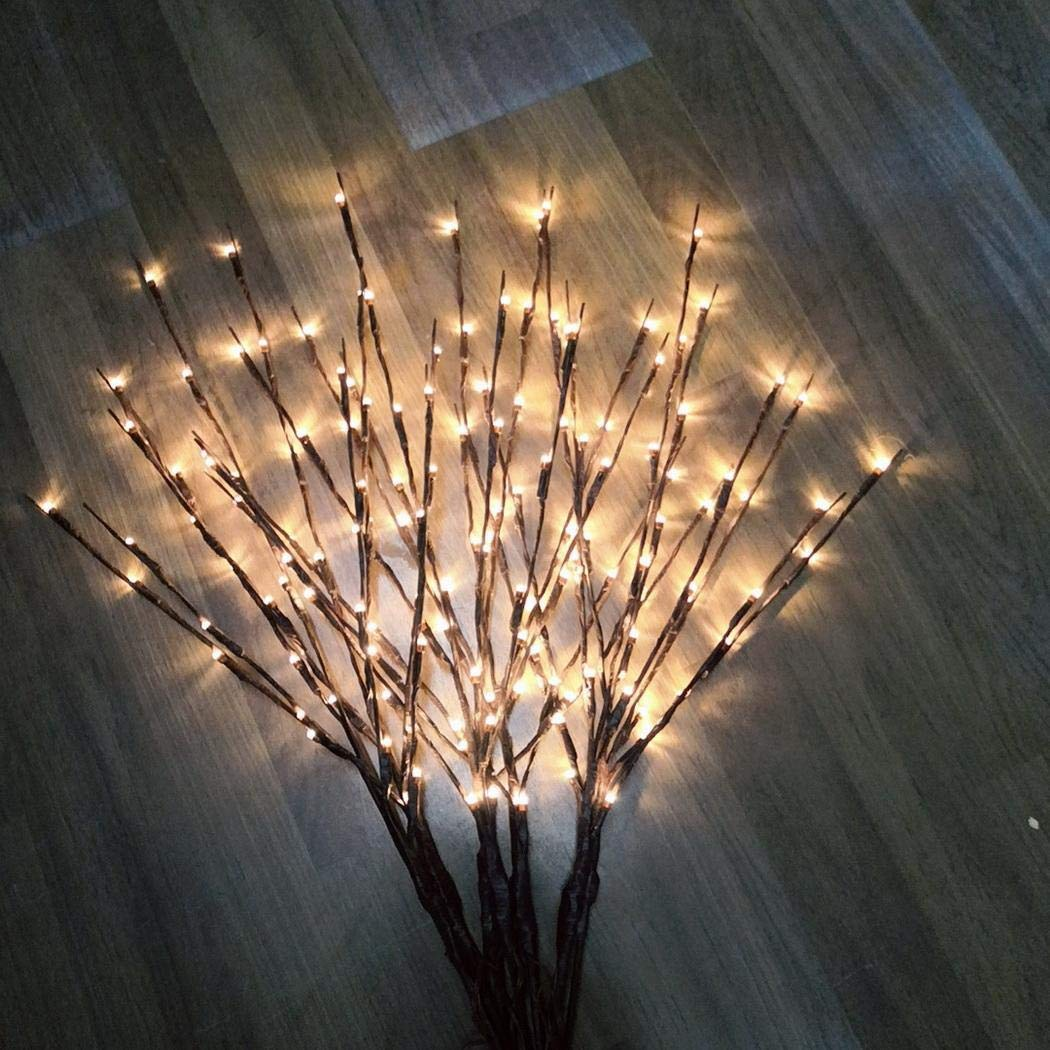 Festive Lighted Twig Branches 20 LEDs Lights Artificial Tree Willow Branches
