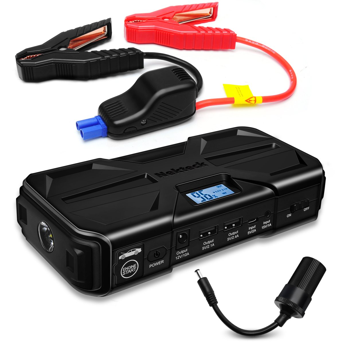 Nekteck Car Jump Starter 800A Peak 20000mAh Jump Starter Emergency Battery Pack Jump starter