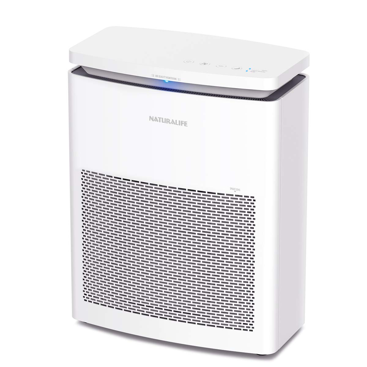 NATURALIFE Air Purifier 3-in 1 Air Cleaning System with Washable Pre-filter, HEPA & Active Carbon Filters for Large Rooms up to 25-35m² (large)