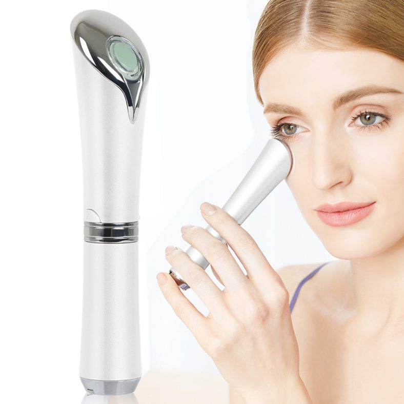 Eye Massager for wrinkle treatment skin rejuvenation,eye concussion Anti-aging Galvanic Wand 42 ℃ Heated