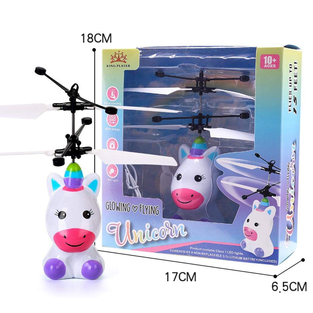 inkeme Children Mini Infrared Sensing Lighting Flying Toy USB Charging Toy Motor Activity Toys