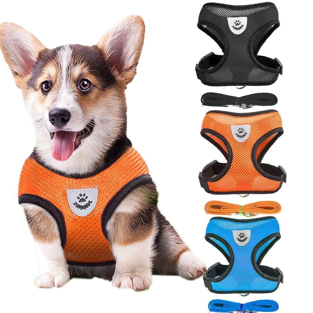 Adjustable Outdoor Pet Mesh Vest Chest Strap Dog Leash Dog Harness Pet Supplies