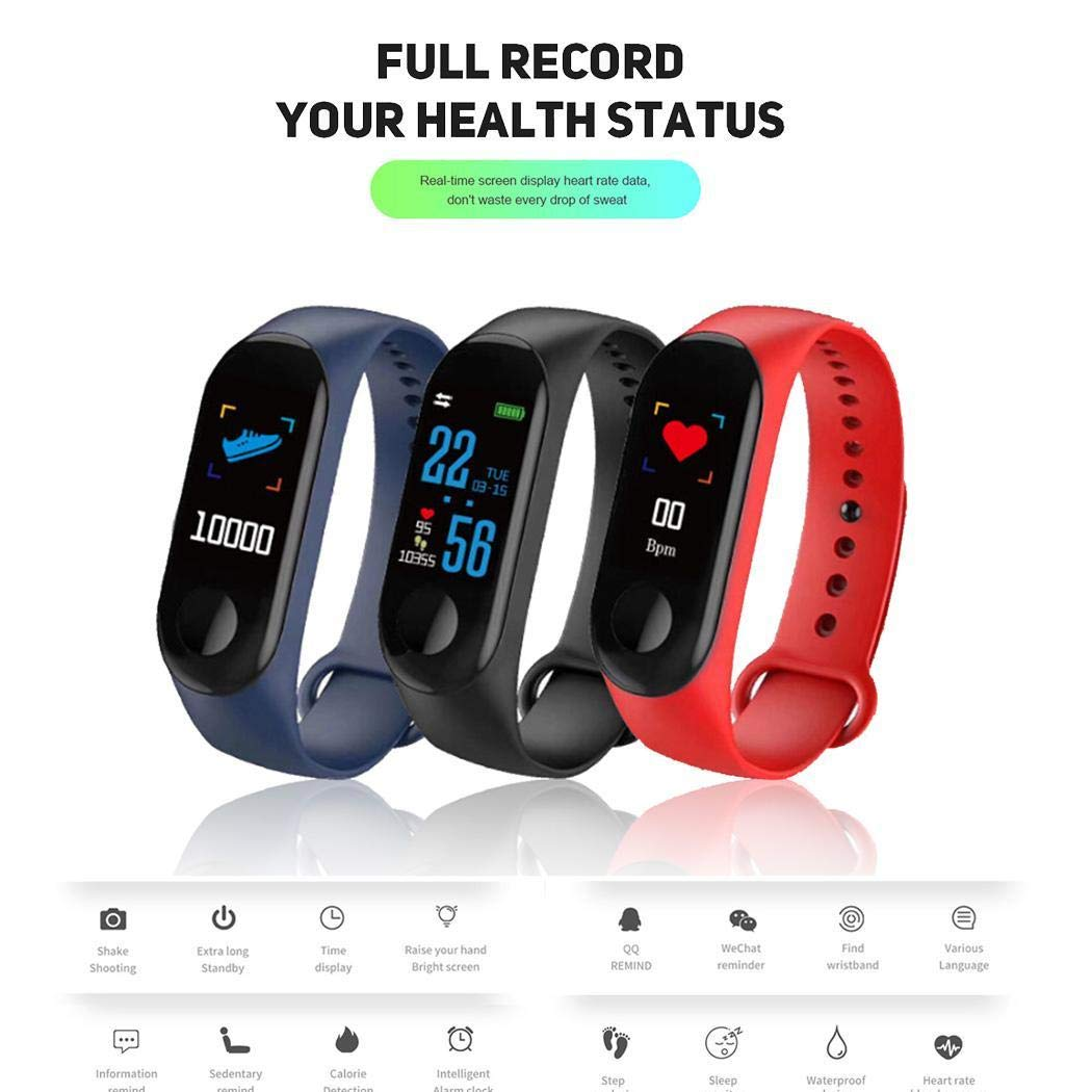 Bluetooth Fitness Tracker, Activity Tracker Watch with Heart Rate Monitor