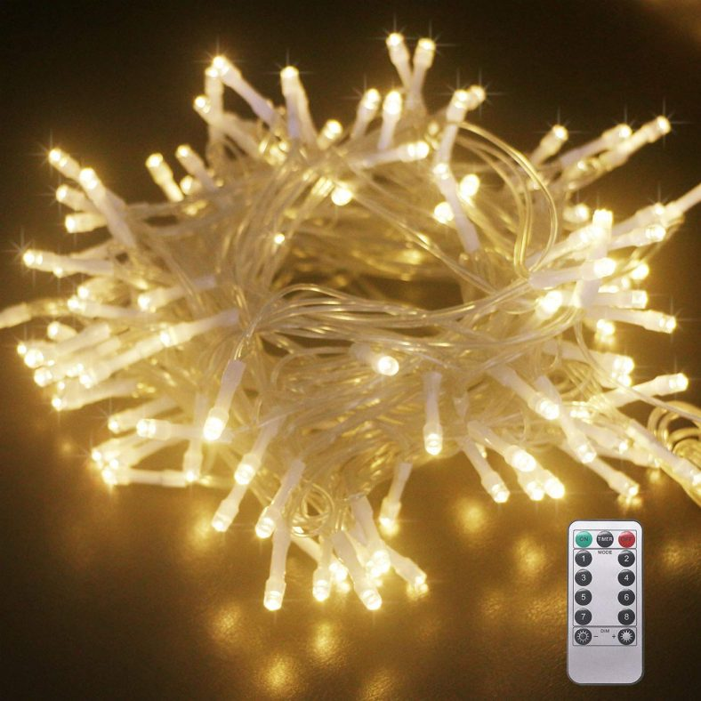 Kolpop Battery Fairy Lights 120 LED, 8 Working Modes Micro Lights with Remote Control
