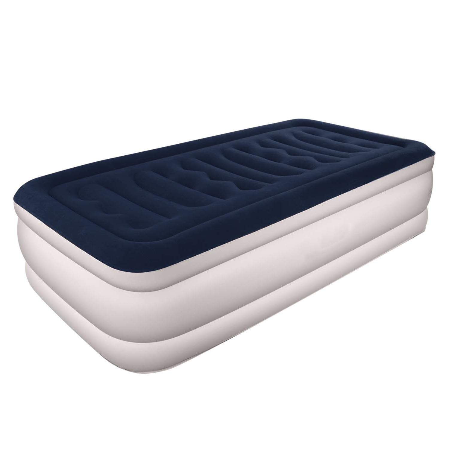 OLRITRON Inflatable Air Bed, Single Size Mattress Single Air Bed, 75 X 39 X 18 in(191 x 99 x 46 cm), with a built-in Electric Air Pump, Max.Capacity 249 kg(550 lb)