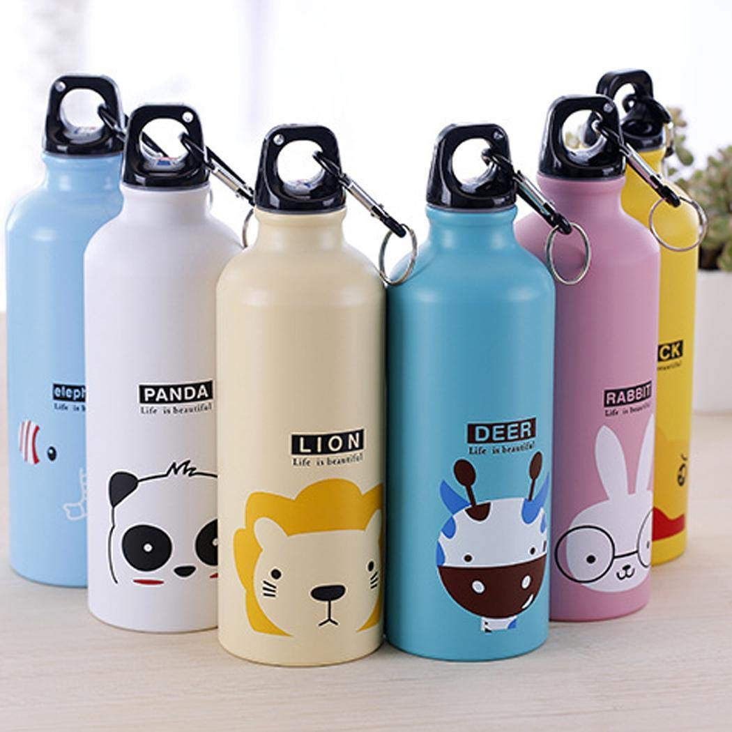 Xixini 500mL Cartoon Animal Pattern Aluminum Alloy Thermos Cup Water Bottle 2.63 x 8.26inch