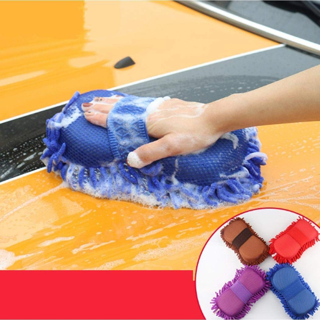 Sliwei Car Hand Soft Towel Microfiber Chenille Washing Gloves Coral Fleece Gloves Auto 7.9 x 4.3 x 5.9inch