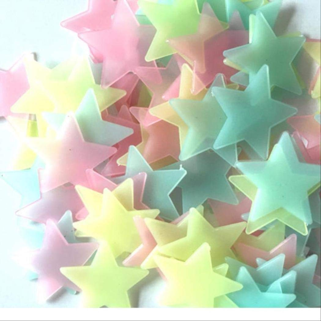 Luminous Star Wall Stickers Glow In The Dark Fluorescent Patch Home