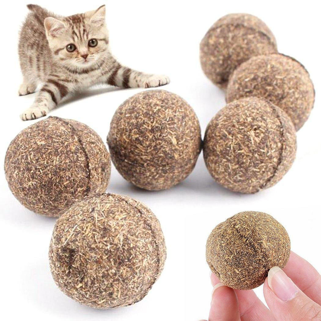 Natural Funny Catnip Treating Ball Pet Cat Edible Handmade Cat Toys Ball