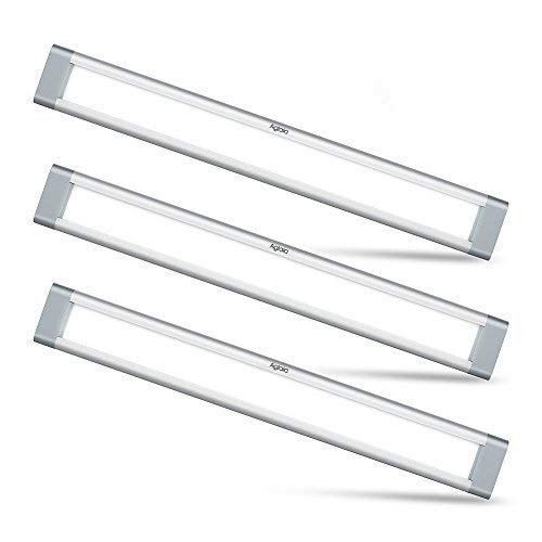 LED Under Cabinet Lighting, Aglaia Dimmable Under Cupboard Light LED 12W 6000K Ultra Thin Closet Light Bar for Kitchen Shelf Locker Show Case(3 Pack)