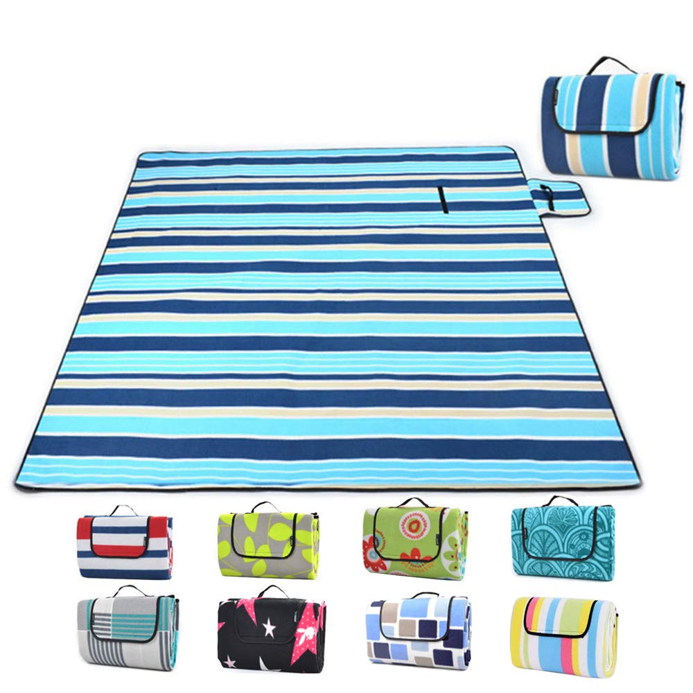 SKYSPER Picnic Blanket Large Portable Outdoor Carpet Mat 200 * 200cm Waterproof Soft Foldable Camping Tote Light Compact Oversized Rug