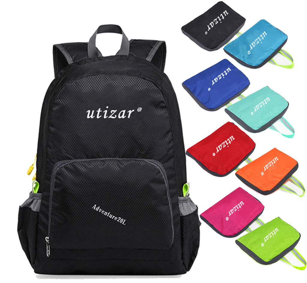 Utizar Backpack Folding Hiking Bag Sports Small Gym Rucksack Camping Daypack 20L