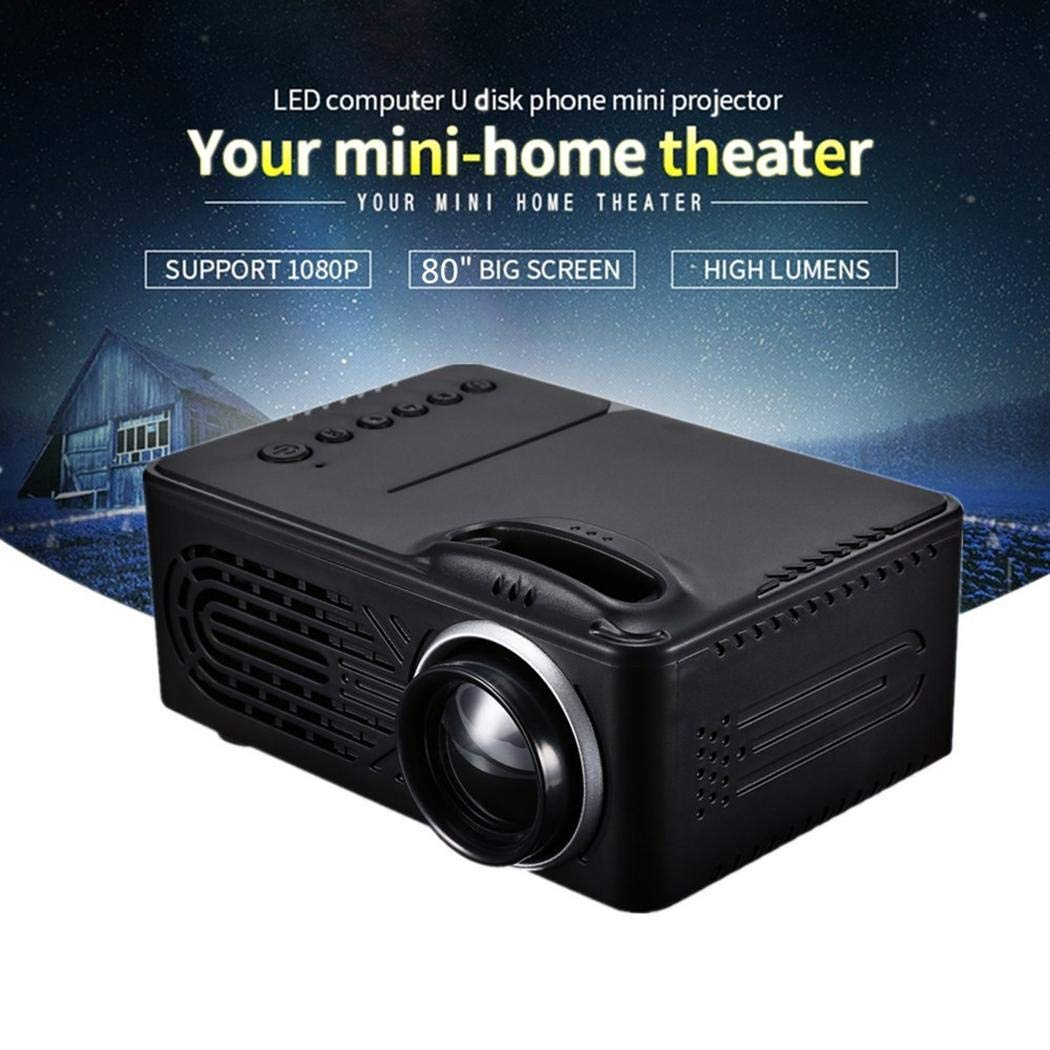 cioler Mini 814 Home LED Portable Entertainment Miniature 1080P HD Projector Projectors