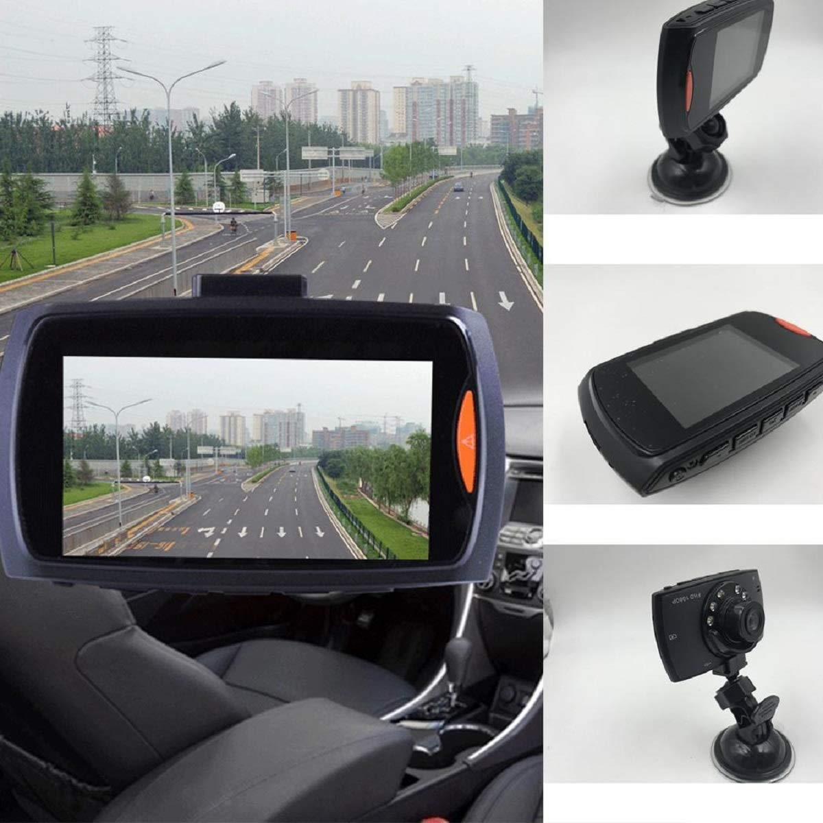 vobome 720P/1080P Full HD Screen Car DVR Camera Multi-Function HD Driving Recorder Super Wide-Angle Night Vision Camera Automobile Recorder