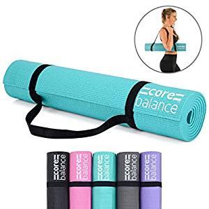 Foam Yoga Exercise Mat, Non-Slip, 6mm Thick