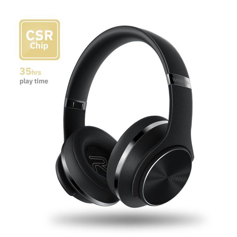 Bluetooth Headphones Over Ear, DOQAUS 35 Hrs Playtime Wireless Headphones