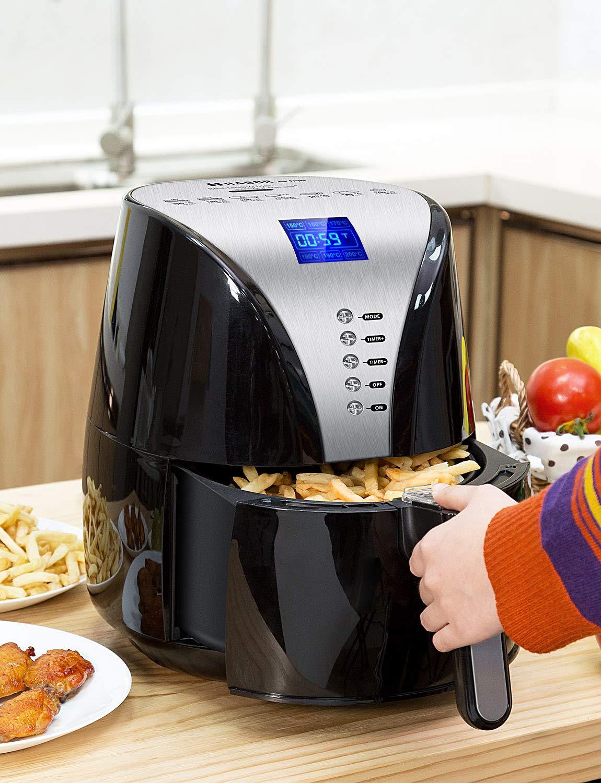 Habor 1500W Power 3.6L Family Sized Low Fat Healthy Hot Oil Free Fryers XL