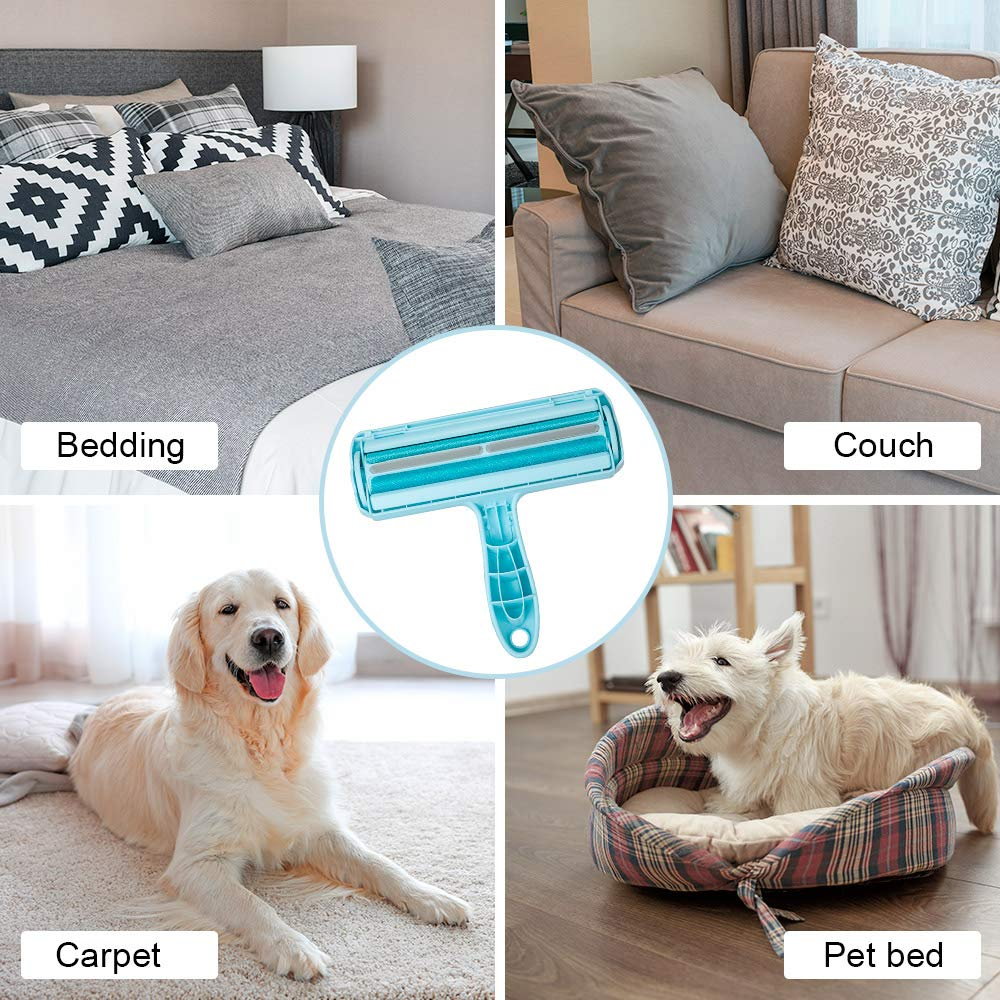 Kinkaivy Prime Pet Hair Remover Lint Roller, Reusable Dog & Cat Hair Remover Brush, Effective for Furniture, Bedding, Comforters Couch, and More.