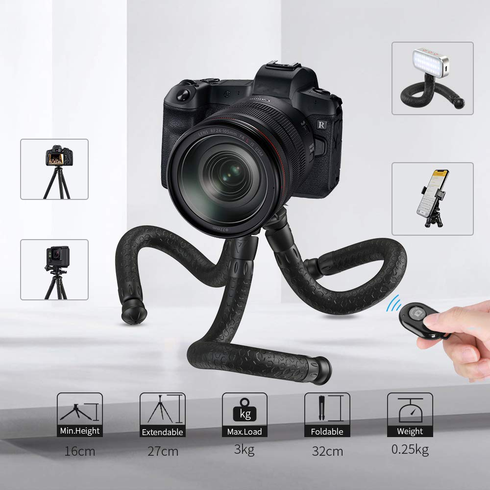 APEXEL Flexible Tripod Mini Travel Camera Phone Tripod
