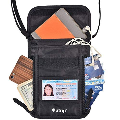 Outrip Passport Holder Neck Wallet Perfect Travel Wallet or Neck Stash Pouch