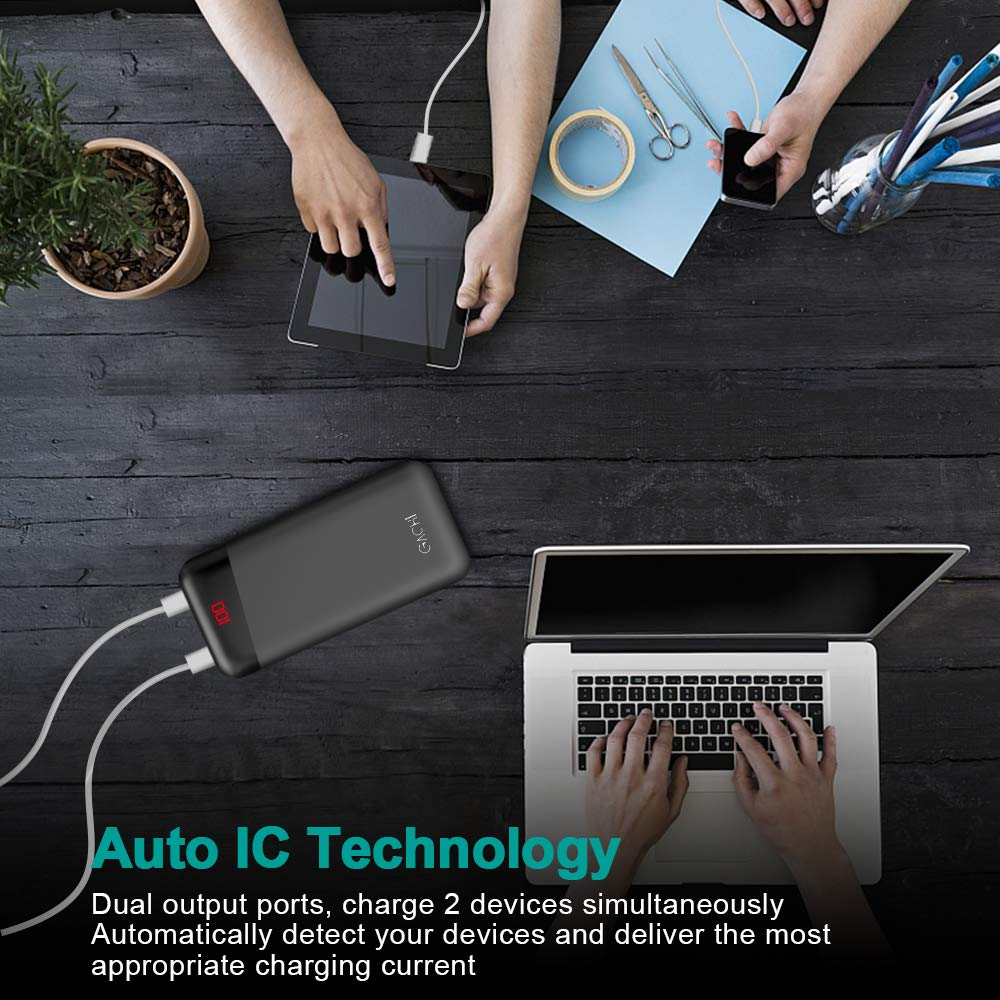 GACHI Portable Charger, 26800mAh Power Banks, Ultra High Capacity External Battery Pack with LED Display