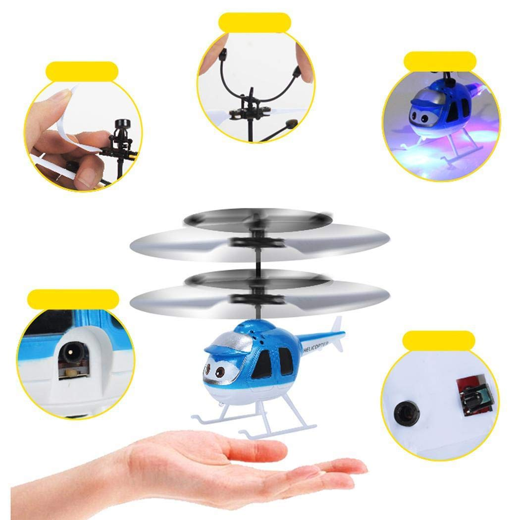 Flying Toys for Kids Boys Girls Gifts Gravity Sensor Charging Floating Suspension Flying Toys Helicopter with Remote Controller