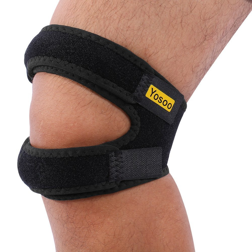 Yosoo Knee Brace, Knee Patella Strap Support for Runners and Jumpers, Adjustable Knee Band Brace