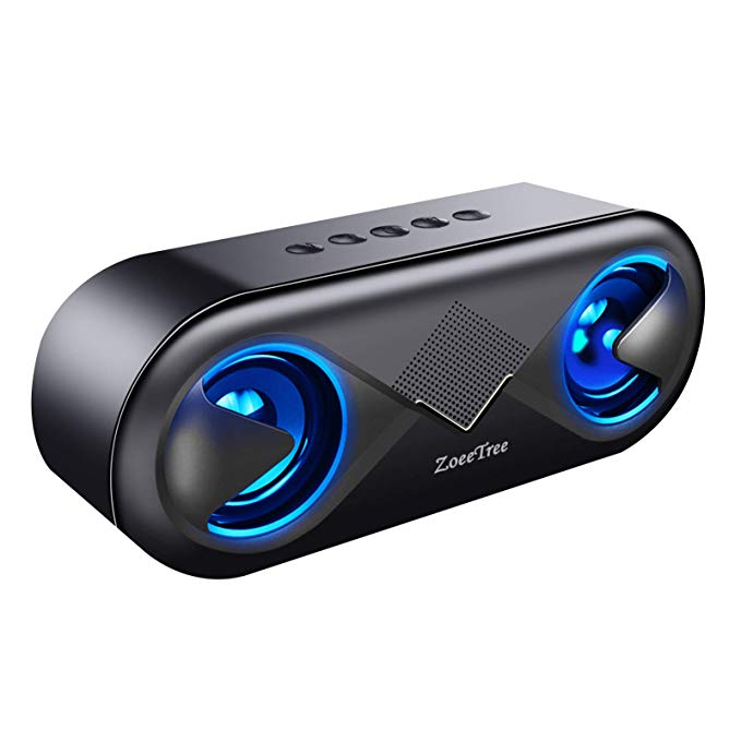Portable Bluetooth 5.0 Stereo Speaker with 12-H Playtime