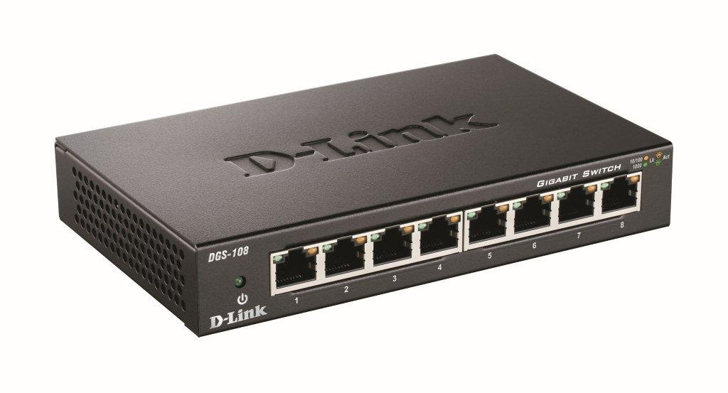 D-Link Gigabit Unmanaged Metal Desktop Switch