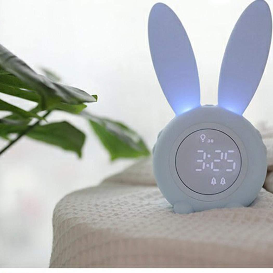 Riotis Cute Rabbit Digital Alarm Clock