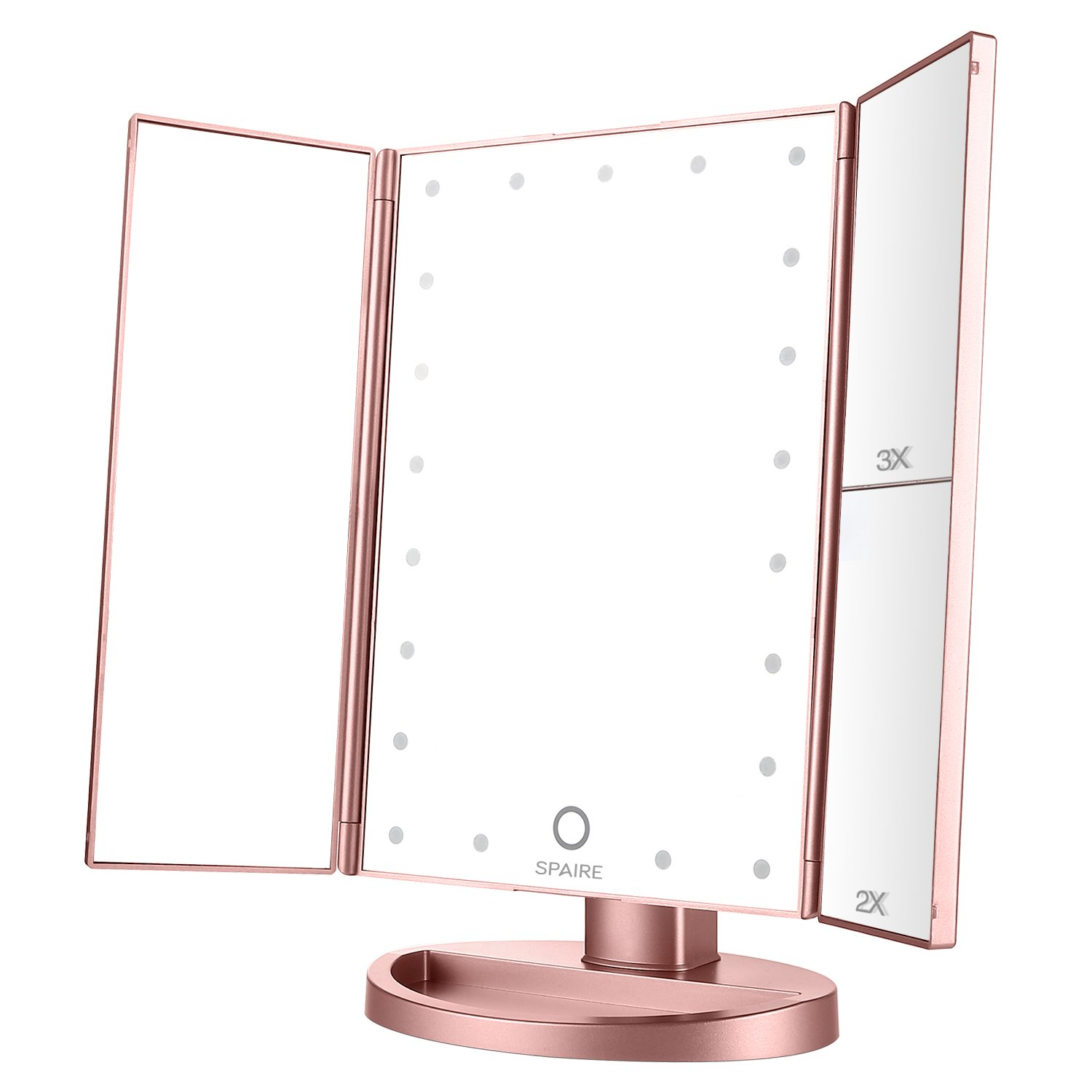 Spaire Makeup Mirror Trifold LED Light Vanity Mirror