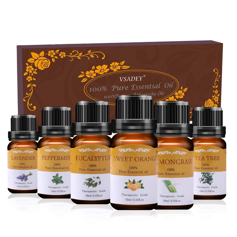 Aromatherapy Essential Oils Set 100% Pure Organic 6 x 10ml