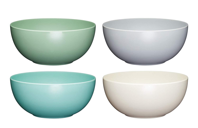 Colourworks Melamine Plastic Bowls, Set of 4