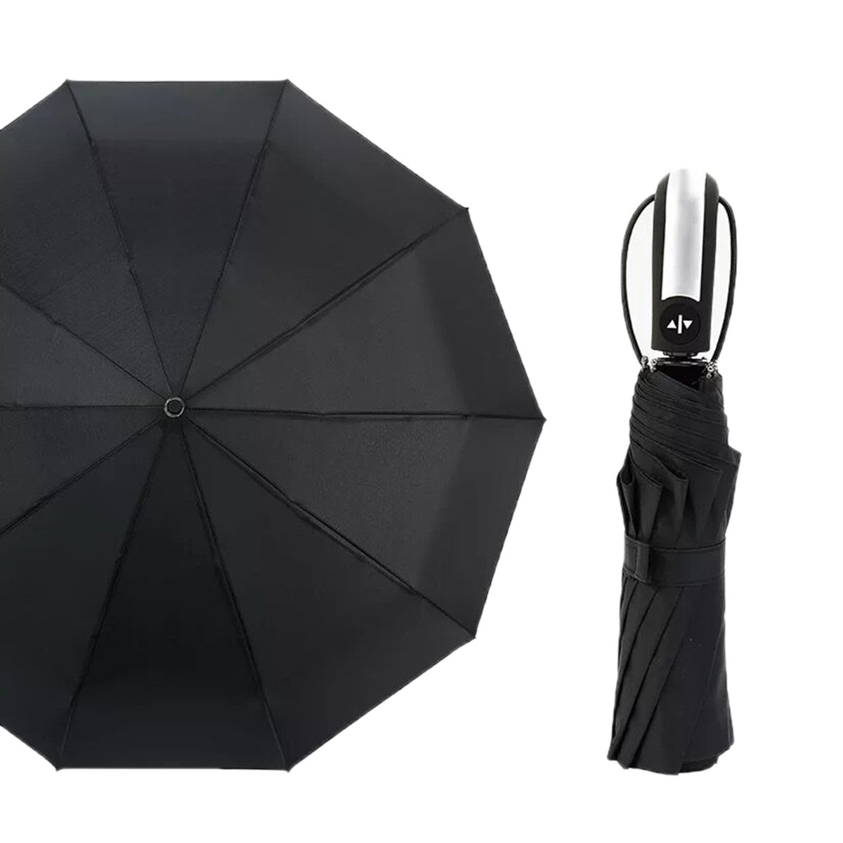 Folding Travel Windproof Umbrella Unbreakable Lightweight 10 Ribs Automatic Compact Canopy Umbrellas
