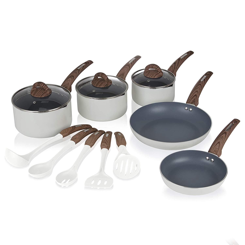 Tower Frying Pan and Saucepan Pan Set, 5 Piece