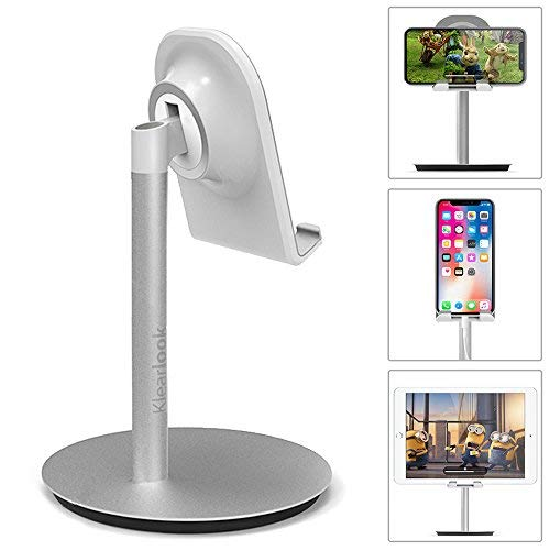 Klearlook Phone/Tablet Stand, Universal Multi-Angle Adjustable Stand Mount