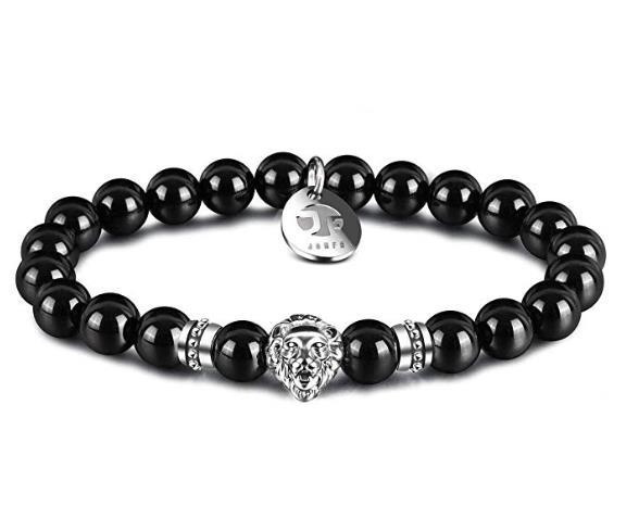 Lion agate natural stone beaded bracelet