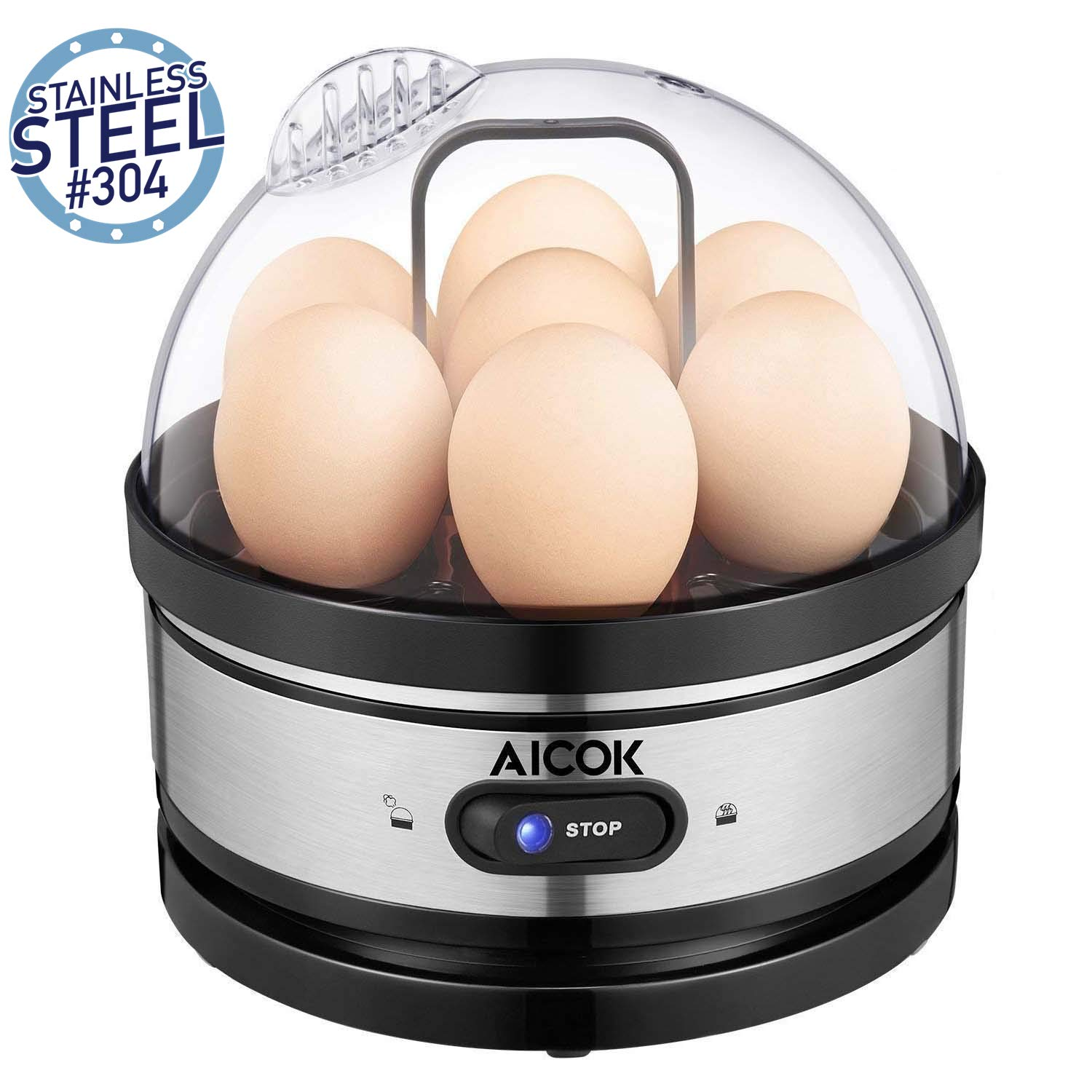 Egg Boiler, Aicok Electirc Egg Cooker with Heat Preservation Function