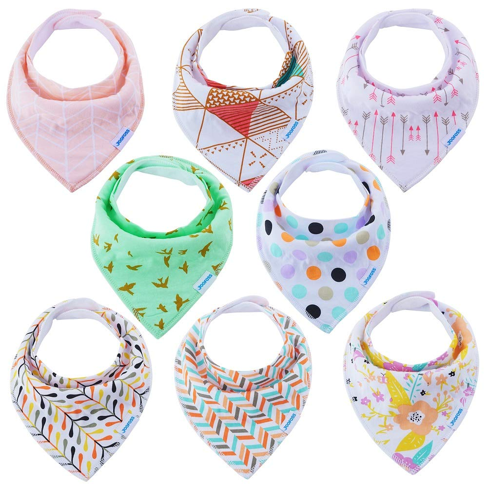 YOOFOSS Baby Bandana Dribble Bibs for Toddlers Drooling and Teething Super Soft and Absorbent for Boys Girls 8 Pack