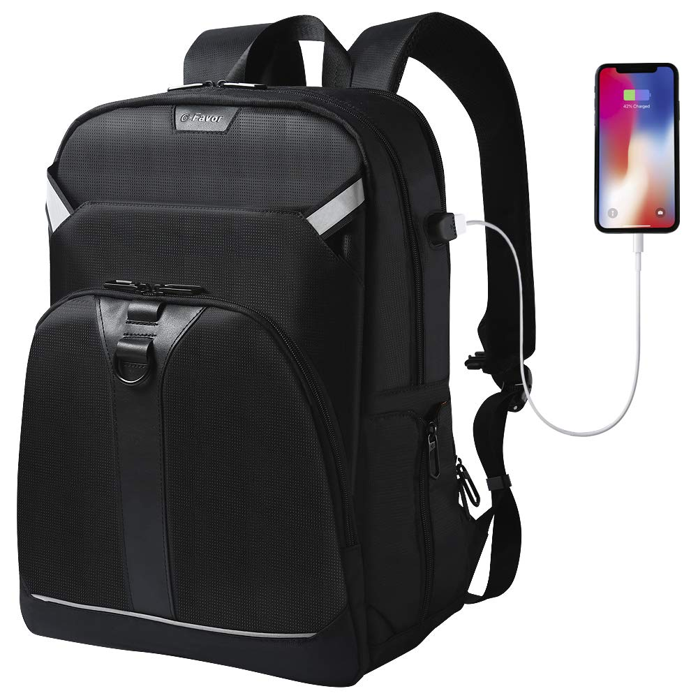 Laptop Backpack with USB Charging Port Fits 17.3 Inch Laptop for Work College Travel Hiking
