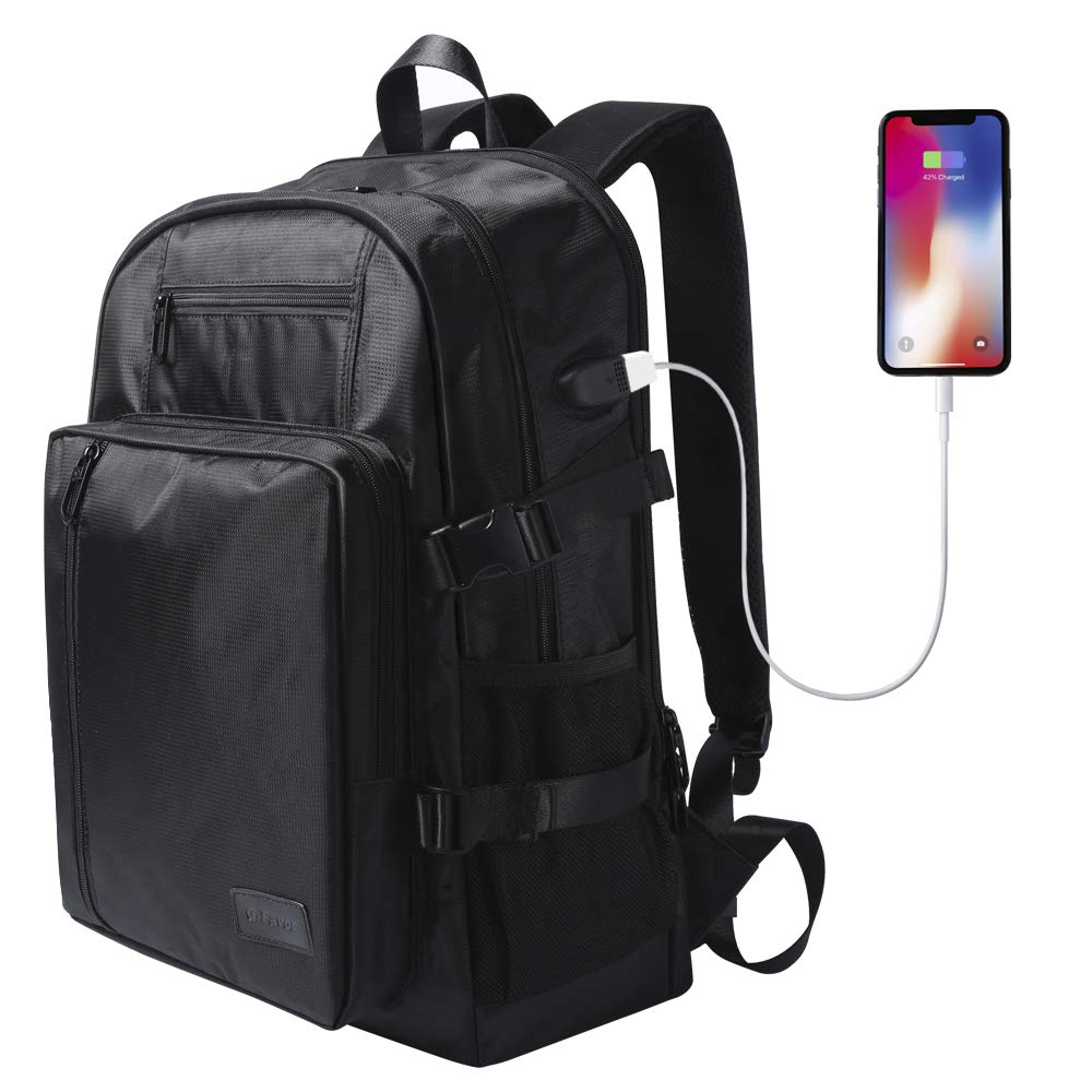 Laptop Backpack with USB Charging Port Fits 17.3″ Inch Laptop