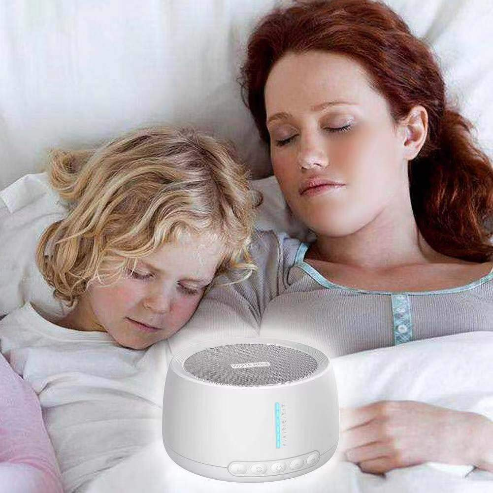 White Noise Machine NOUDOO Sound Therapy Machine with Earphone Jack 18 Soothing Natural Sounds 3 Timer Settings for Baby Adults Seniors Asleep Quickly