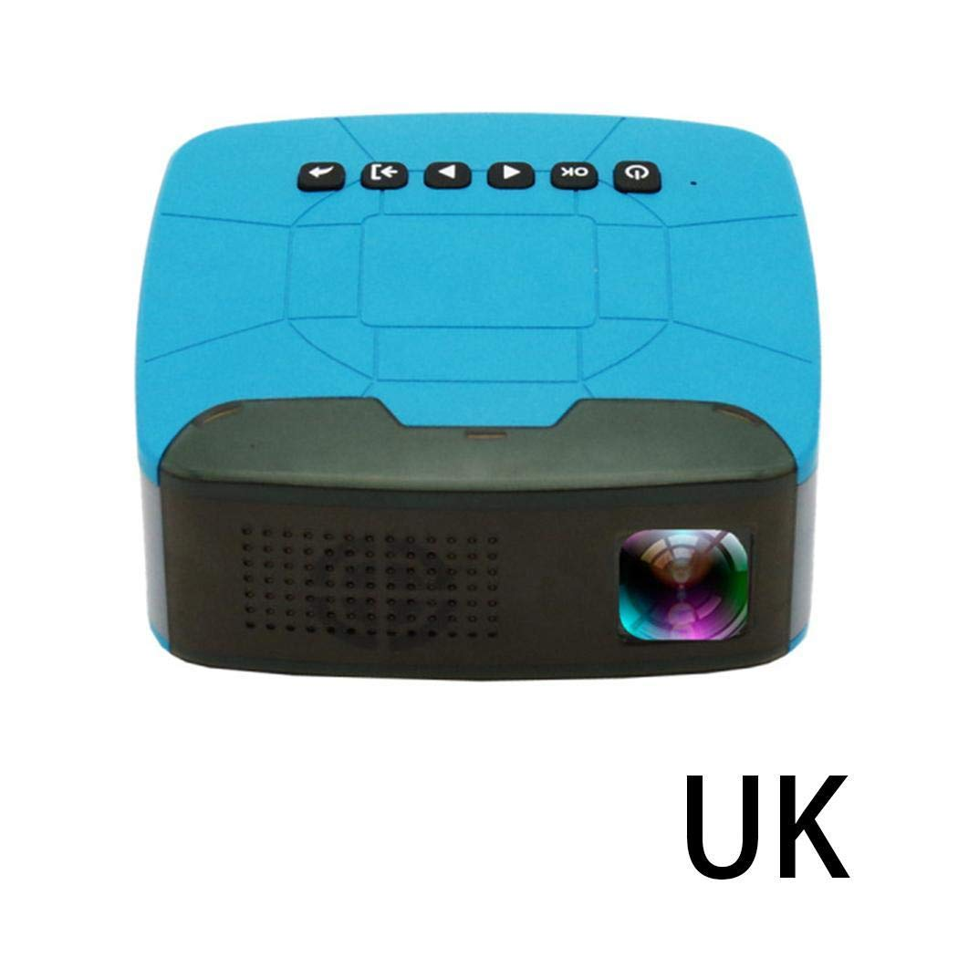 Xixini Household LED Mini Projector Portable Full HD 1080P Micro Projector 20000 Hours Lamp Life Support 1080P Max Resolution